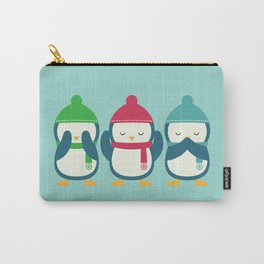 No Evil In Holiday Carry-All Pouch