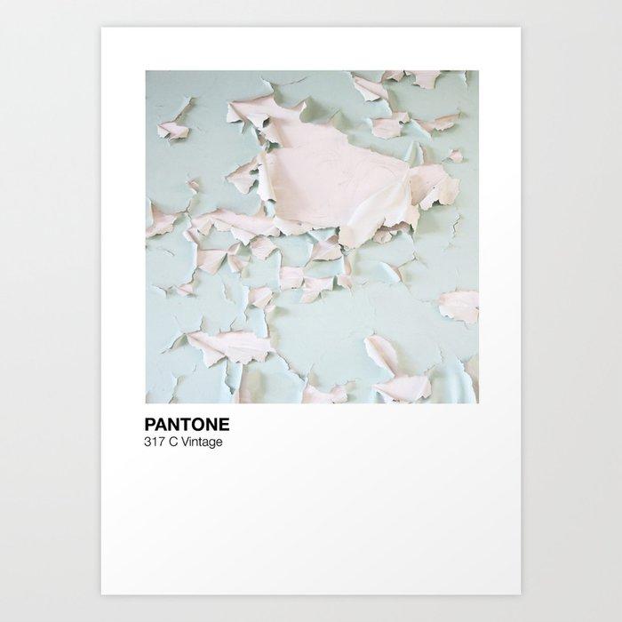 56ce12aa8c5e Pantone 317c Vintage Art Print by buntrausch | Society6
