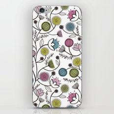 Black Border Florals iPhone & iPod Skin