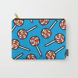 Red, white & blue lollipops pattern Carry-All Pouch