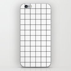 White Black Grid Minimalist iPhone Skin