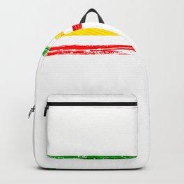 African American flag design Gift Africa Rasta Reggae Flag Backpack