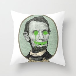 Halls of Justice Throw Pillow