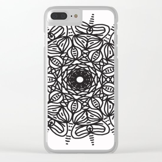 Spiral hand made 2 Clear iPhone Case