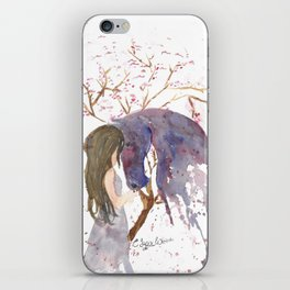 A Piece of her Soul Watercolor iPhone Skin