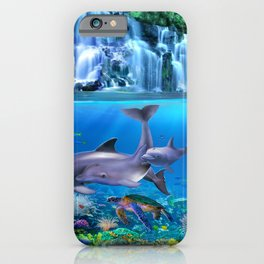 The Dolphin Family iPhone Case