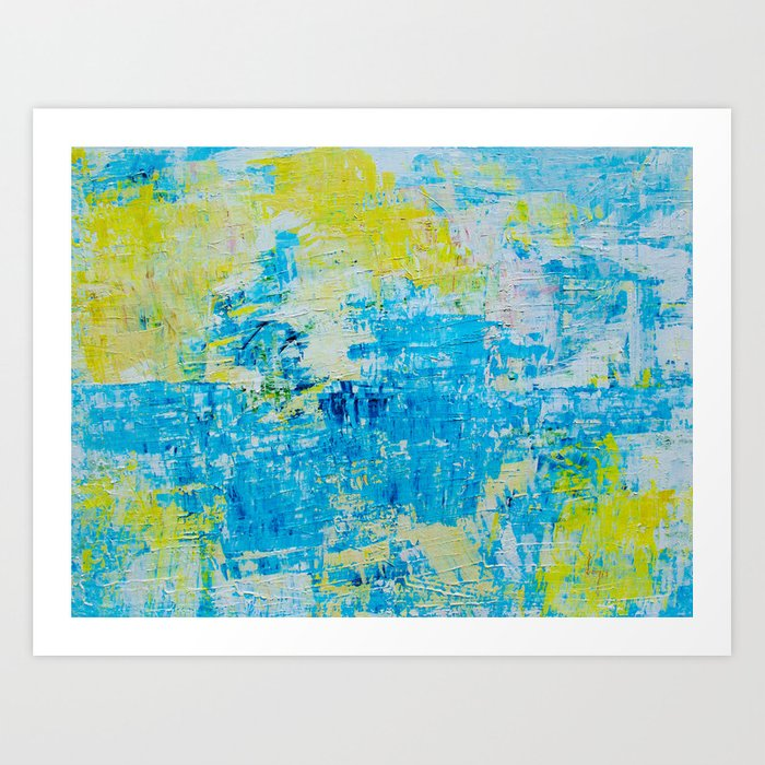 Abstract Acrylic Painting Bright Day Art Print
