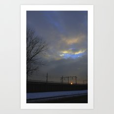 Lonely travel Art Print