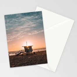 California Lifeguard Tower Stationery Cards