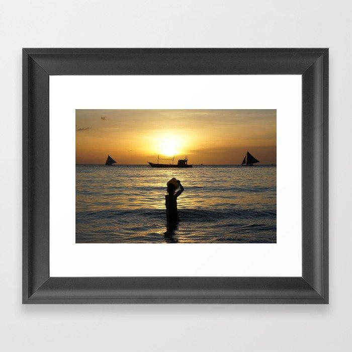 a drop in the ocean Framed Art Print