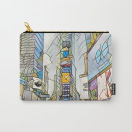NYC Life in Times Square Carry-All Pouch