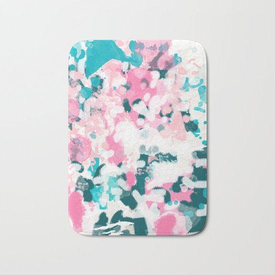 Everitt - abstract minimal painting home decor modern bright artistic decor canvas Bath Mat