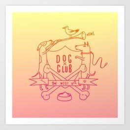 Dog Club Art Print