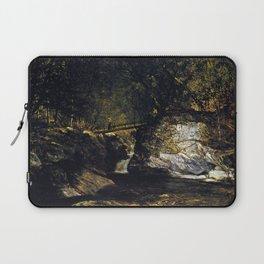 A Study Bash Bish Falls 1856 By David Johnson | Reproduction | Romanticism Landscape Painter Laptop Sleeve