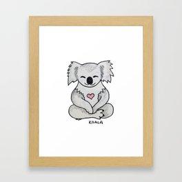 Koala Love Framed Art Print