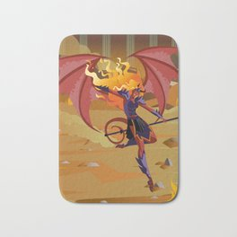 female demon with trident Bath Mat
