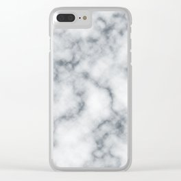 Marble Cloud Clear iPhone Case