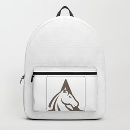 Initial Horse Letter A Backpack