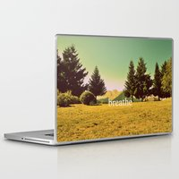 breathe Laptop & iPad Skins featuring Breathe by ARTbyJWP
