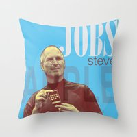 steve jobs Throw Pillows featuring Steve Jobs by Thomas Official