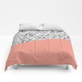 Granite and Blooming Dahlia Color Comforters