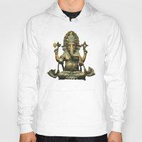 ganesha Hoodies featuring Ganesha by Justin Atkins