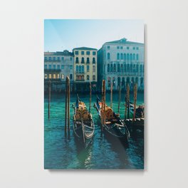 Gondolas Metal Print