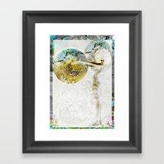 Hi Flutter Bye Framed Art Print