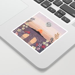 Sunset Sticker