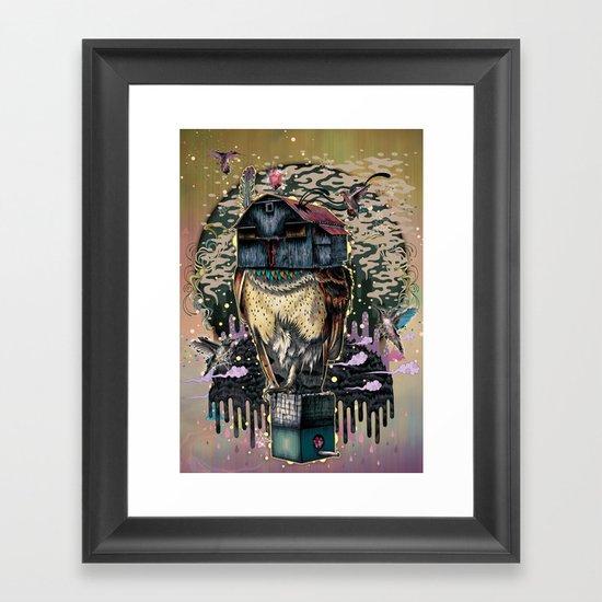 The Barn Owl Fortune Teller Framed Art Print