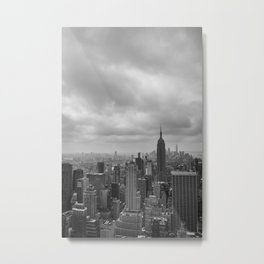 New York Black and White Metal Print