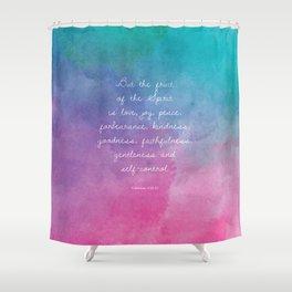 Galatians 5:22-23, Fruit of the Spirit Scripture Quote Shower Curtain