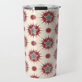 Retro Christmas Stars Travel Mug