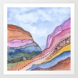 Canyon Cathedral 3 Art Print