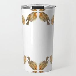 Pisco - Robin bird illustration pattern Travel Mug