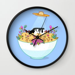 Kidnapped During Ramen Trip Wall Clock