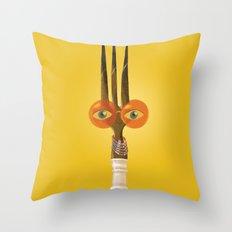 Fork Mummy Throw Pillow