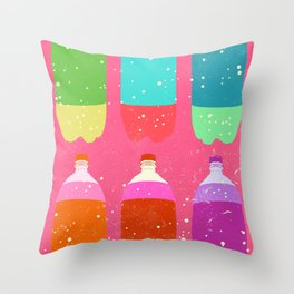 PSYCHEDELIC SODA Throw Pillow