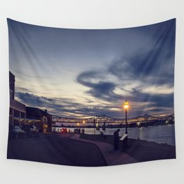 Natchez Under the Hill Wall Tapestry