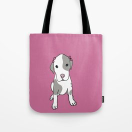 Millie The Pitbull Puppy Tote Bag