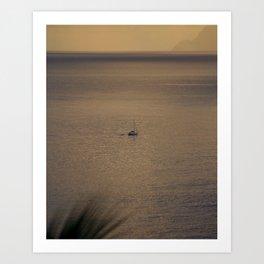 Sunset Sailboat 2007 Art Print