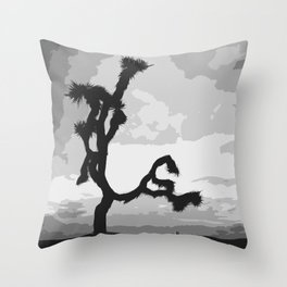 A Joshua Tree In Black And White Throw Pillow