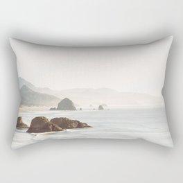 overlooking cannon beach Rectangular Pillow