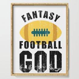 Fantasy Football God Serving Tray