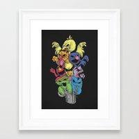 sesame street Framed Art Prints featuring A Sesame Street Thriller by Anwar Rafiee