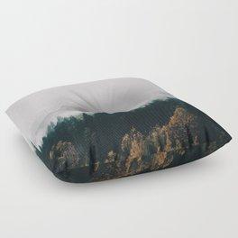 Forest Fog Floor Pillow