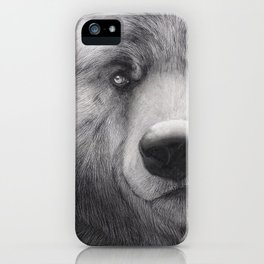 Bear Charcoal iPhone Case