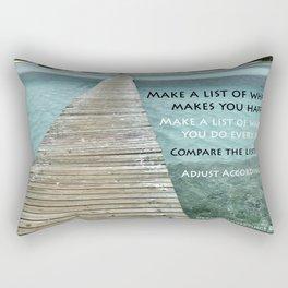 Path to Happiness Rectangular Pillow