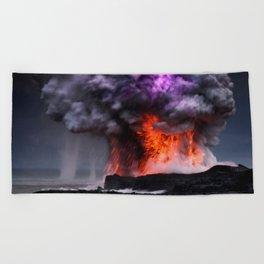 Kilauea Volcano at Kalapana 7 Beach Towel