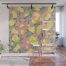 Lemon Twist Vibes #2 #tropical #fruit #decor #art #society6 Wall Mural